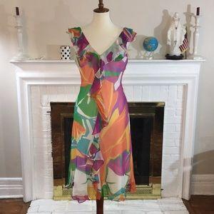🌹Lauren Ralph Lauren Silk lined dress Sz 8